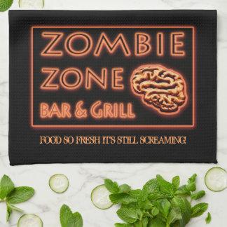ゾンビの食糧そう新しく静かなわめくハロウィン キッチンタオル