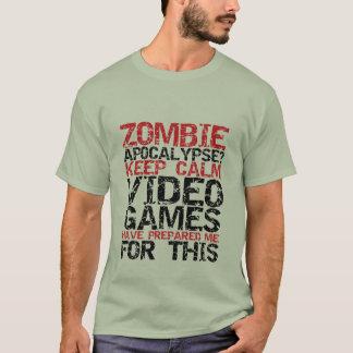ゾンビの黙示録のゲーマーは穏やかなおもしろTシャツを保ちます Tシャツ