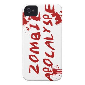 ゾンビの黙示録のスカルのiPhoneカバー-血Splat iPhone 4 カバー