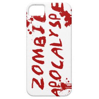 ゾンビの黙示録のスカルのiPhoneカバー-血Splat iPhone 5 Case