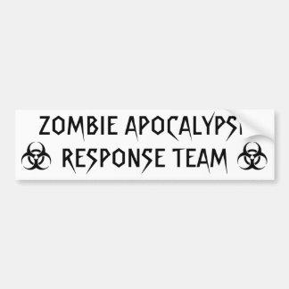 ゾンビの黙示録の応答のチーム バンパーステッカー