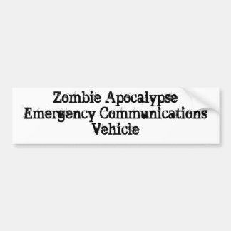 ゾンビの黙示録緊急コミュニケーション車 バンパーステッカー