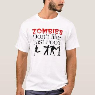 ゾンビはファースト・フードのTシャツを好みません Tシャツ