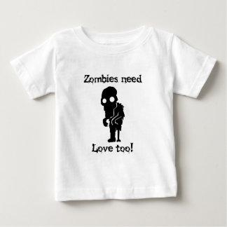 ゾンビは愛を必要としますも ベビーTシャツ