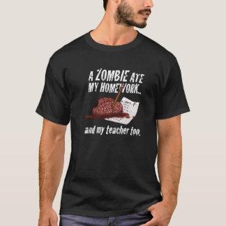ゾンビは私の宿題の… Tシャツを食べました Tシャツ