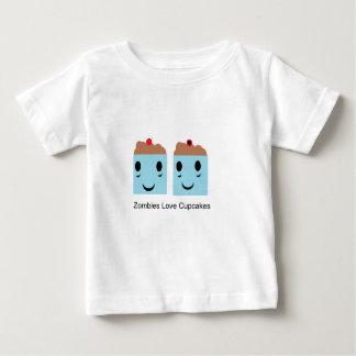 ゾンビ愛カップケーキ ベビーTシャツ