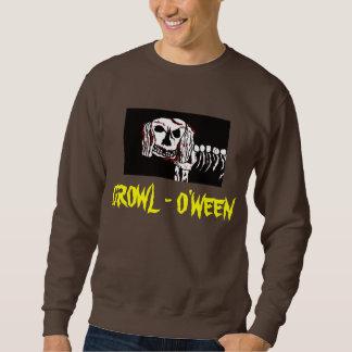 ゾンビ犬GROWL-O'WEENハロウィンのワイシャツのティー スウェットシャツ
