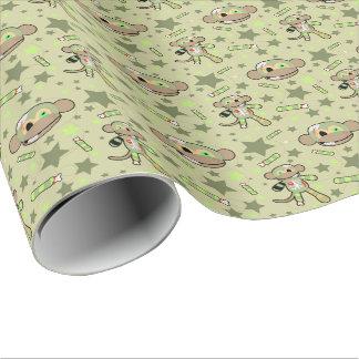 ゾンビ猿の包装紙 ラッピングペーパー