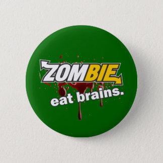 ゾンビ! 頭脳を食べて下さい! 缶バッジ