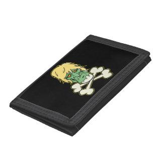 ゾンビXbones 「004'財布 ナイロン三つ折りウォレット