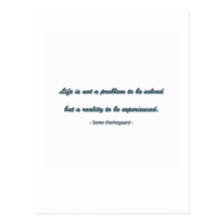ゾーレンKierkegaard著生命引用文-生命はa.ではないです ポストカード