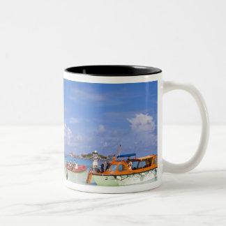 タイのアンダマン海。 国内で乗客で ツートーンマグカップ