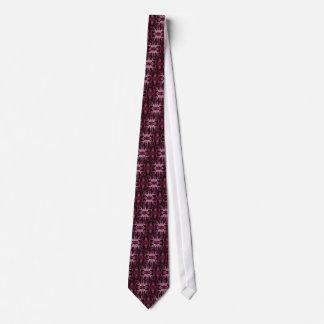 タイのカシ及びドングリ-あずき色 ネクタイ