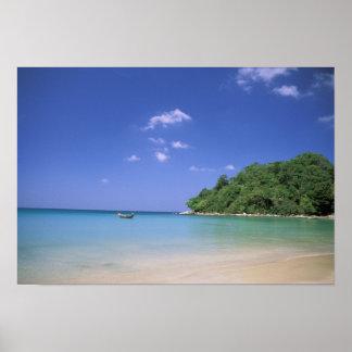 タイのプーケットの島。 浜 ポスター