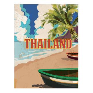 タイのヴィンテージ旅行ポスター ポストカード
