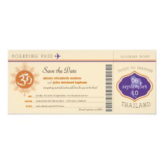 タイの搭乗券の保存日付 カード