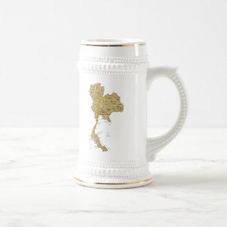 タイの旗の~の地図のマグ ビールジョッキ