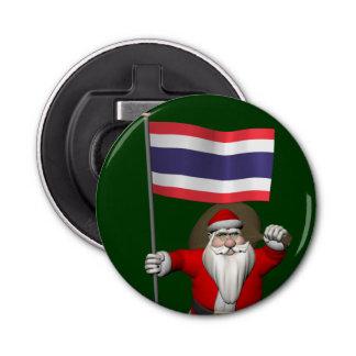 タイの旗を持つ甘いサンタクロース 栓抜き