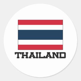 タイの旗 ラウンドシール