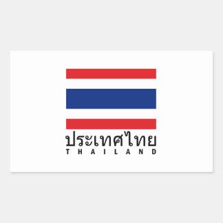 タイの旗 長方形シール