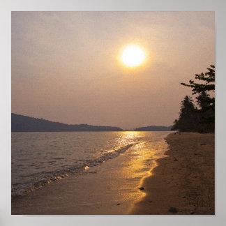 タイの水酸化カリウム溶液チャンの日没 ポスター