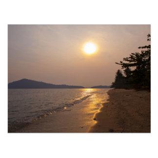 タイの水酸化カリウム溶液チャンの日没 ポストカード