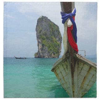 タイの長い尾のボート ナプキンクロス
