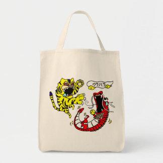 タイガー及びドラゴンドラゴンソーダトートバッグ トートバッグ