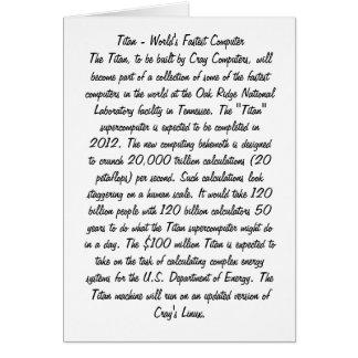タイタンのスーパーコンピュータ カード