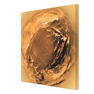 タイタンの表面の魚目の眺め キャンバスプリント