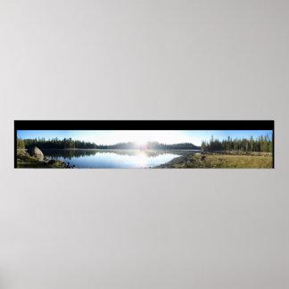 タイトルのボーダーとの夜明けにtriangle湖 ポスター