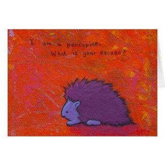 タイトルを付けられる:  刺だらけ-おもしろいの多彩なヤマアラシの芸術 カード