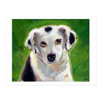 タイトルを付けられる: 私は愛~献身によって斑点を付けられる犬ペット芸術です ポストカード