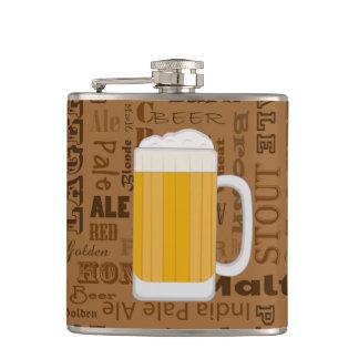 タイプのビールシリーズプリント1 フラスク