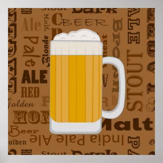 タイプのビールシリーズプリント1 ポスター