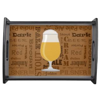 タイプのビールシリーズプリント4 トレー