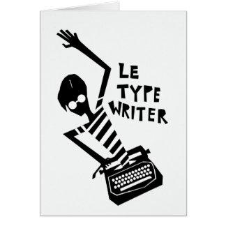 タイプライターのグラフィック カード