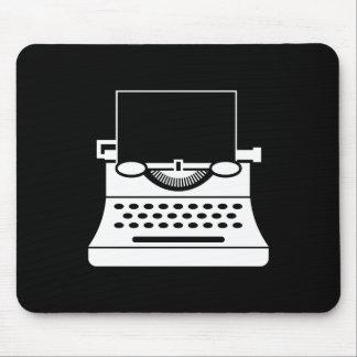タイプライターのピクトグラムのマウスパッド マウスパッド
