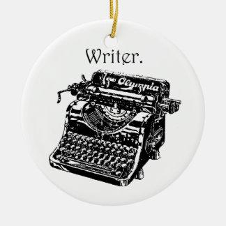 タイプライターの作家 セラミックオーナメント
