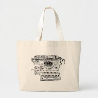タイプライターの単語のバッグ ラージトートバッグ