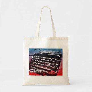 タイプライターの紫系統のポップアートの作家 トートバッグ