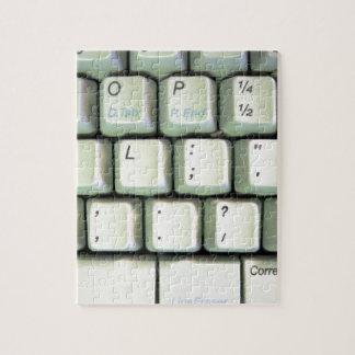 タイプライター型キーボード ジグソーパズル