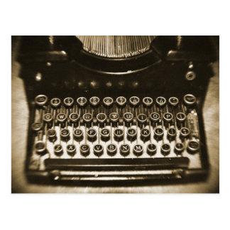 タイプライター ポストカード