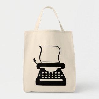 タイプライター-古い学校の執筆をタイプするマニュアル トートバッグ