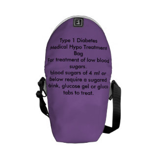 タイプ1の糖尿病のハイポのトリートメントのバッグ メッセンジャーバッグ