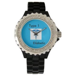 タイプ1の糖尿病の腕時計(糖尿病の認識度月) 腕時計