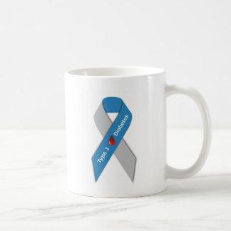 タイプ1の糖尿病の認識度のリボン コーヒーマグカップ
