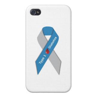 タイプ1の糖尿病の認識度のリボン iPhone 4/4Sケース
