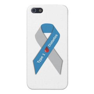 タイプ1の糖尿病の認識度のリボン iPhone SE/5/5sケース
