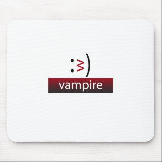 タイポグラフィのおもしろいの顔文字: 吸血鬼 マウスパッド